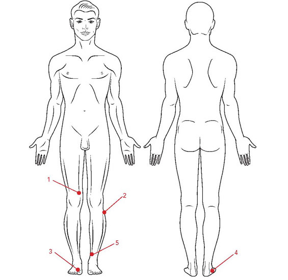 Complete five point circuit for removing scars from the energetic system
