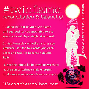 Twin flame energy techniques for grounding and bonding